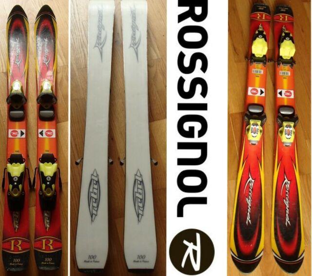 Rossignol ROC Jr Kids Skis 93cm with Rossignol comp kid adjustable bindings NEW