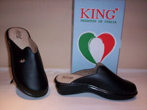 shop miglior posto per la moda più votata Dettagli su King ciabatte pantofole chiuse comode donna Made in Italy  invernali da casa nere