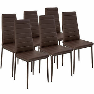 Stupendous Details About 6 Modern Dining Chairs Dining Room Chair Table Faux Leather Furniture Cozy Brown Gmtry Best Dining Table And Chair Ideas Images Gmtryco