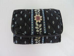 Vera-Bradley-Tri-Fold-Wallet-Alpine-Black-Retired-Pattern-8034