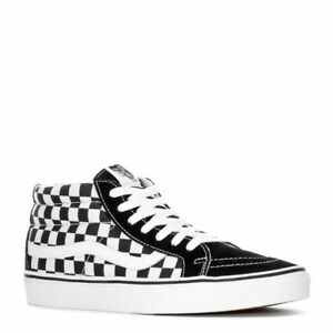 a3f52f5eb47 Image is loading NWT-Vans-SK8-Mid-Reissue-Checkerboard-Black-Skateboard-