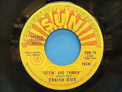 Charlie Rich Sittin' And Thinkin' / Who Will The Next Fool Be 45 Single Sun  70 | eBay