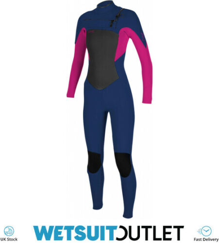O/'Neill Youth Kids Junior Epic 4//3mm Chest Zip GBS Wetsuit Navy Berry