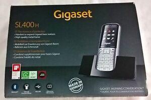 Gigaset-Mobilteil-SL-400H-silber-schwarz-mit-Ladeschale-1-8-034-Bluetooth-Neu-OVP