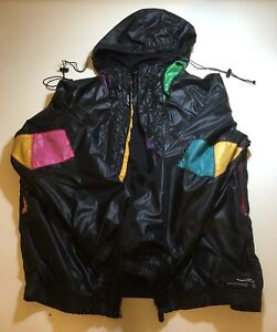 Boxfresh-Men-039-s-Jacket-Hoodie-Black-Pockets-Green-Yellow-Fashion