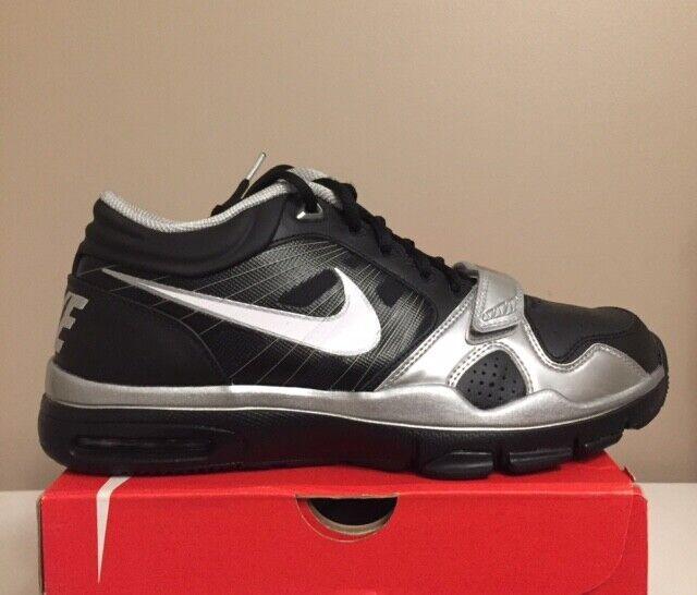 New Nike Trainer 1.2 Mid Black Silver 407766 011 Size 10 Rare DEADSTOCK