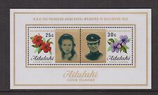 AITUTAKI MNH STAMP MINIATURE SHEET 1973 ROYAL WEDDING PRINCESS ANNE