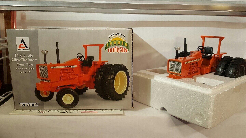 ERTL allis chalmers de deux à dix dauls & Rops 1 16 diecast farm tractor Replica