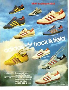1987 Adidas Track Field Shoe Collection Classic Print Advertisement Ebay