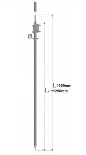 Tiefenerder Erder Erdung Ø18 Zusammensetzung 1,3m feuerverzink nach DIN 50164-2