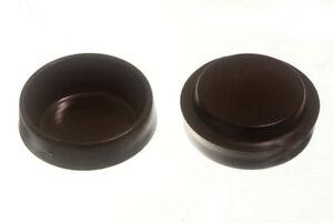 Rollen-Moebel-Boden-Schutz-Gleitet-Brown-Plastik-44Mm-Packung-Von-4