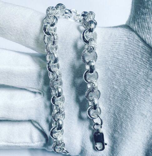 Details about  /Solid Heavy 925 Sterling Silver Mens Belcher Bracelet