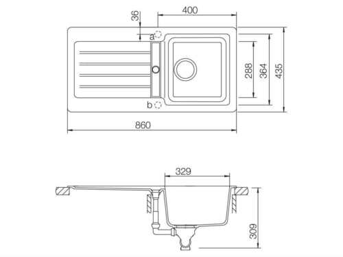 Schock Typos D-100 S A Nero Granitspüle