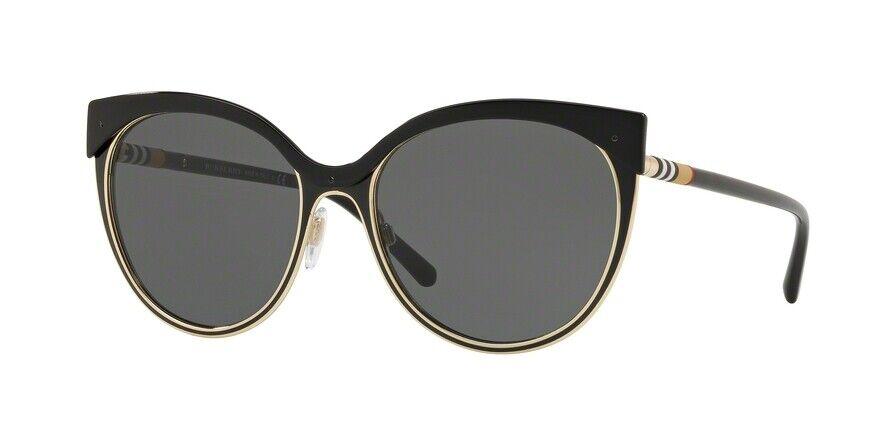 Burberry 0BE3096 126287 Black/Grey Sunglasses