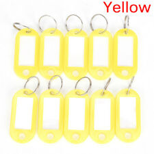 10pcs plastic keychain key split ring id tags name card label 10pcs plastic keychain key split ring id tags name card label language keyring j reheart