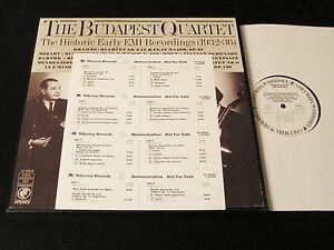 Budapest-Quartet-Early-EMI-Recordings-1977-4-LP-PROMO-Box-NEAR-MINT