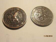 2 One/1 Cent Coins 1878 & 1905 Koningrijk Der Nederlanden