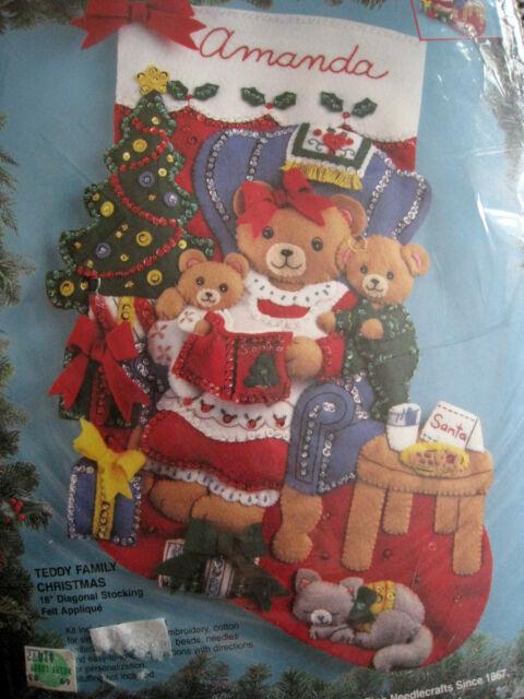 Bucilla/'s Vintage Disney TIGGER 18 Felt Diagonal Felt Appliqued Christmas Stocking Christmas Heirloom Stocking