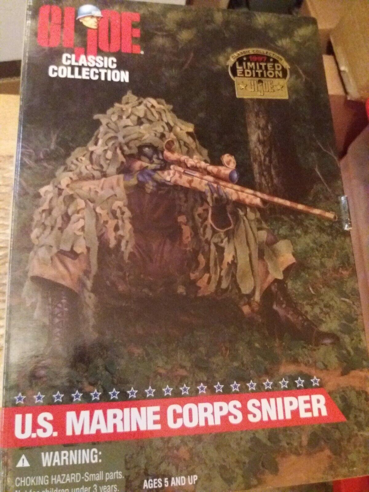 Gi Joe Classic Collection Marine Corps Sniper 12  Action Figure