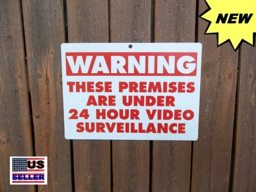 2 Security Yard Warning Alarm Signs Home Protection CCTV Surveillance Fence Sign