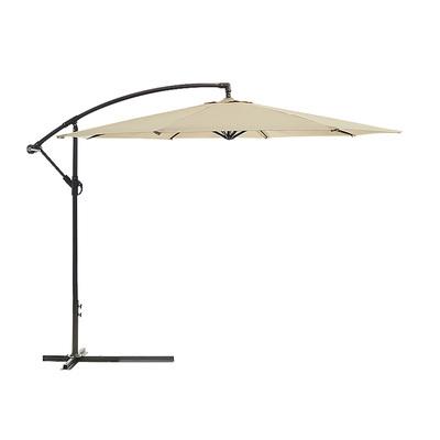 New 3m Cantilever Outdoor Umbrella Garden Patio Market Shade Base Black Blue Red
