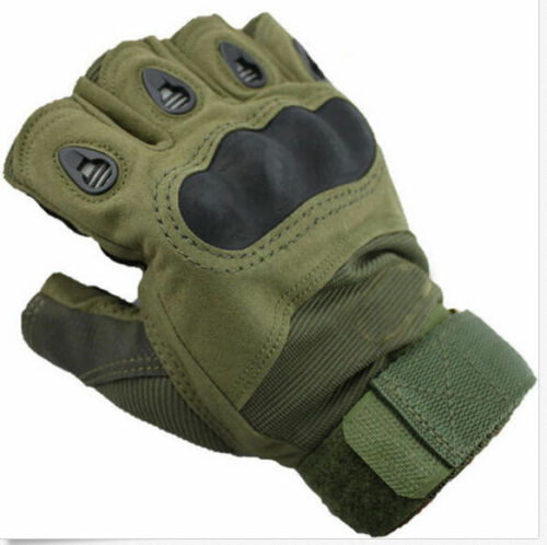 Motorcycle Outdoor Sports Half Finger Fingerless Tactical Hunting Cycling Gloves