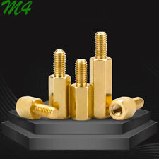 M4 Brass Male Female Hex Column Standoff Support Spacer Screw Nut For Pcb Board