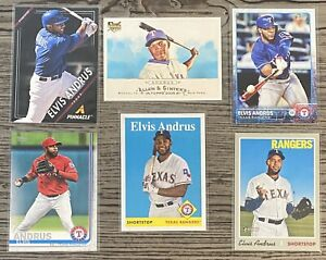 Elvis-Andrus-6-CARD-LOT-including-ROOKIE-2009-Topps-Allen-amp-Ginters-89