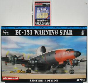 Plus-Model-AL7010-AL7006-EC-121-WARNING-STAR-Wheel-bays-Resin-1-72-Kit