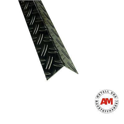 Alu Winkel 2000 mm Riffelblech Duett Treppenleiste Schiene Kantenschutz