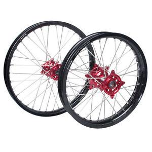 Tusk-Impact-Front-Rear-Wheel-Set-Black-Red-Honda-CRF250R-2014-CRF450R-2013-2014