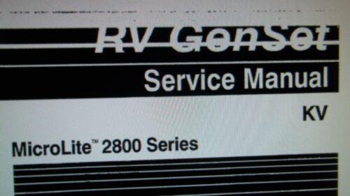 "Onan RV Generator MicroLite 2800 Series /""KV/"" Service Manual"