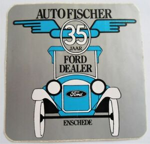 Bumper Stickers Car Fischer Ford Dealer Enschede Netherlands 35 Jaar 80er