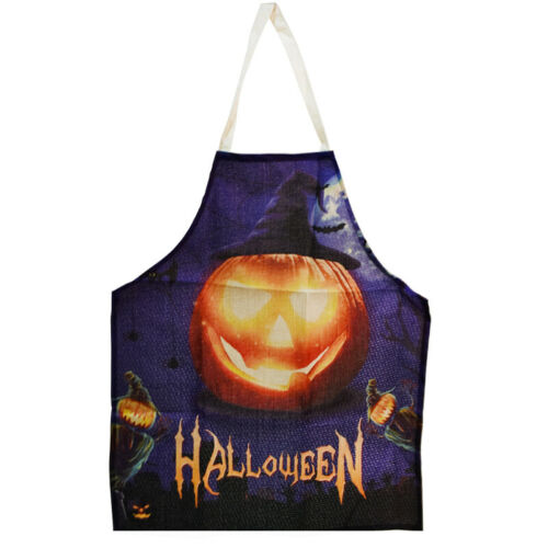 Halloween Cooking Apron Pumpkin Trump 2020 Cosplay Costume Kitchen Party Decor