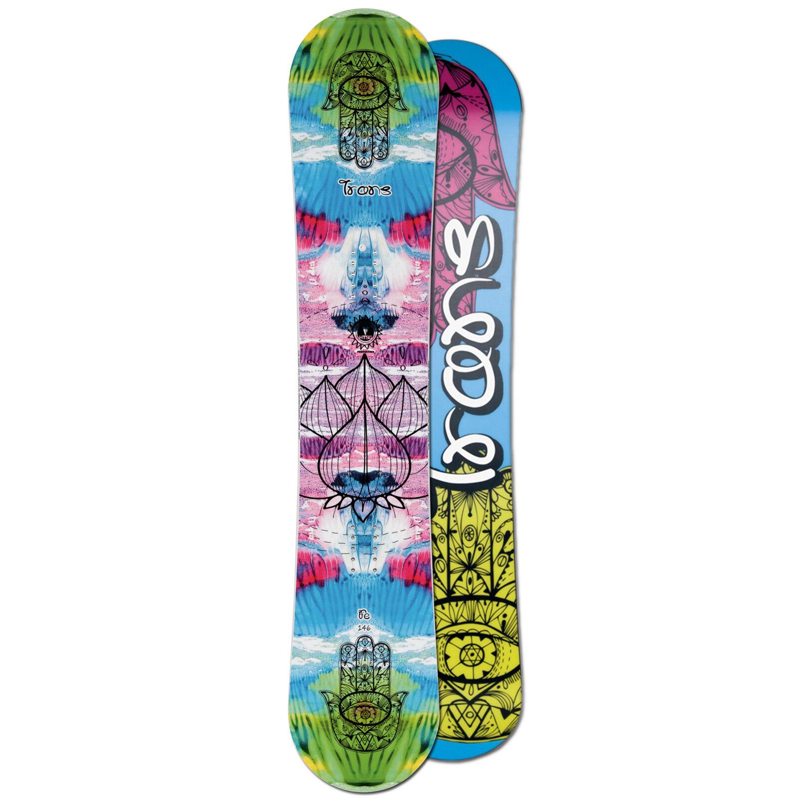 Ladies Freestyle Camber Snowboard  Trans Fe 142 cm Lotus Flower