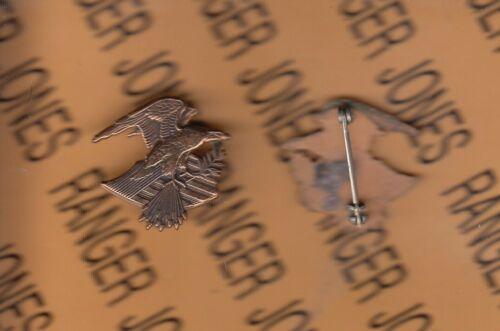"American Eagle /& Flag 1/"" lapel pin crest dui badge pinback"