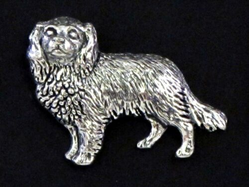 Cavalier King Charles Spaniel English Pewter Lapel Pin Badge Brooch Hand Made