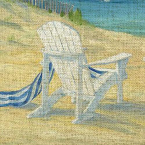 Kissenhülle Kissenbezug Motivkissen Strandszene 2