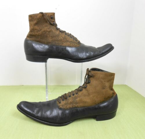 Vintage 1920's/30's Heiser Leather Ankle Shoes Boo