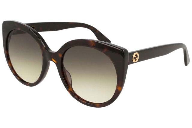 b52ad6edde118 Gucci Women Sunglasses Cat Eye Acetate GG0325S-002 Havana Frame   Brown  Lenses