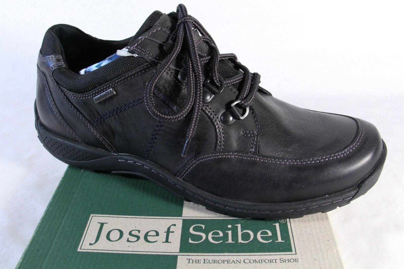 Seibel Herren Schnürschuh, Halbschuh Sneaker schwarz, Lederinnensohle,   NEU!