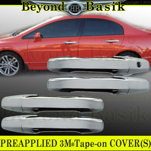 2006 2007 2008 2009 2010 2011 HONDA Civic 4dr Sedan Chrome Door Handle COVERS