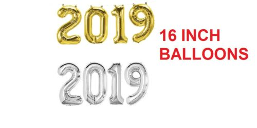 16/'/' INCH HAPPY NEW YEAR 2019 SELF INFLATING FOIL BALLOON BANNER PARTY DECOR