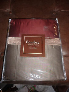 Image Is Loading VCNY BOMBAY RUST SHOWER CURTAIN NEW