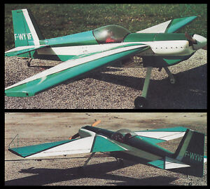 Details about 1/5 Scale French TR-260 Aerobatic Plane Plans, Templates and  Instructions 71ws
