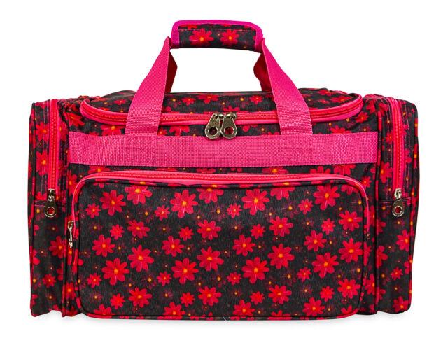 Jenzys Fl Womens Large Designer Travel Gym Carry On Duffle Duffel Bag