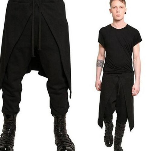 Casual faible d/'Entrejambe Tombant Baggy Pantalon Punk Rock Loose Harem Pantalons pour hommes Ga