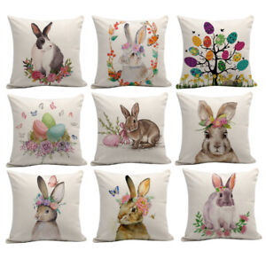 Am-JU-Easter-Rabbit-Egg-Throw-Pillow-Case-Sofa-Bed-Cushion-Cover-Home-Car-Deco