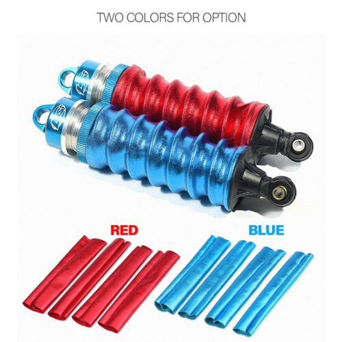4Pcs Shock Absorber Cover Dust-proof 1//8 Off Road Truck RC Car Part S0Y8
