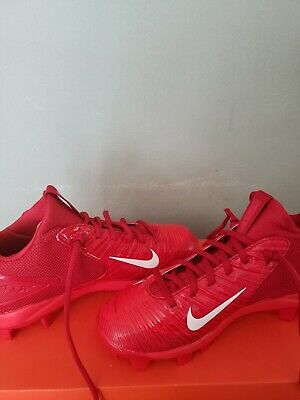 boys red nike socer shoes size 4.5y